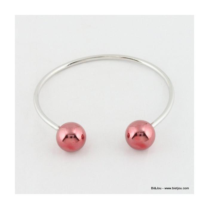 Bracelet chic deux boules en métal