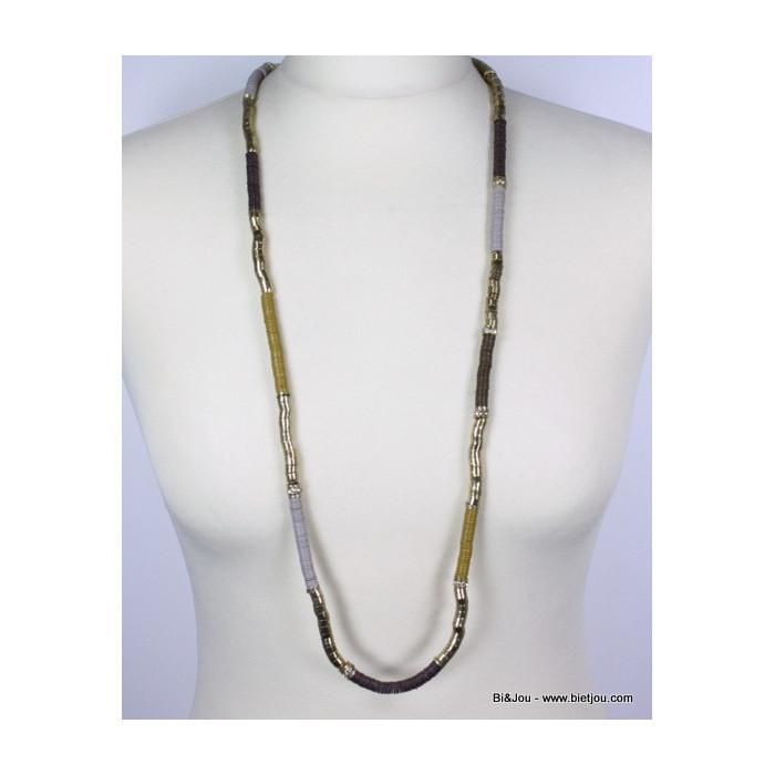 Collier indien sequins et métal vieilli
