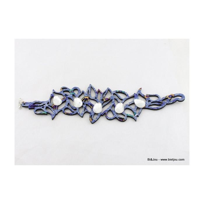 Bracelet Hippie Chic aux formes géométriques serti de strass en forme de goutte