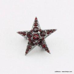 broche 0514512 rouge bordeaux