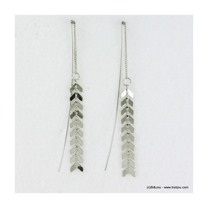 Chaînes d'oreille métal flèches
