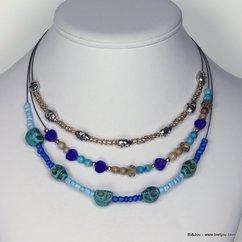 collier 0112243 bleu