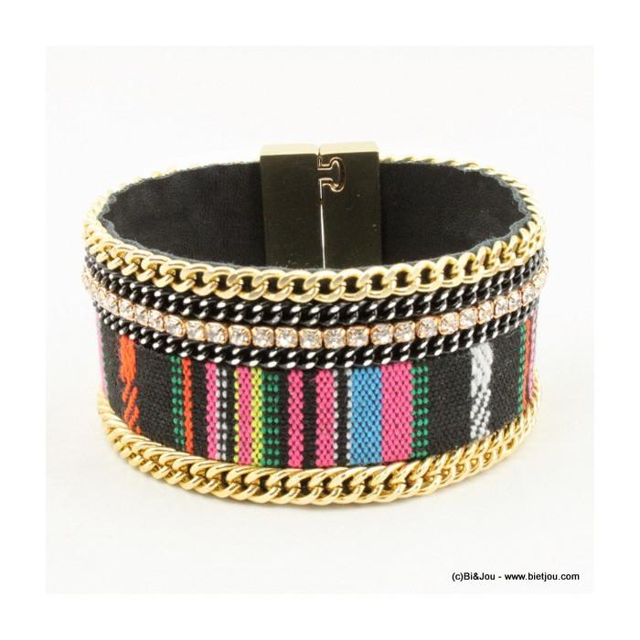 Bracelet manchette brésilien aimanté