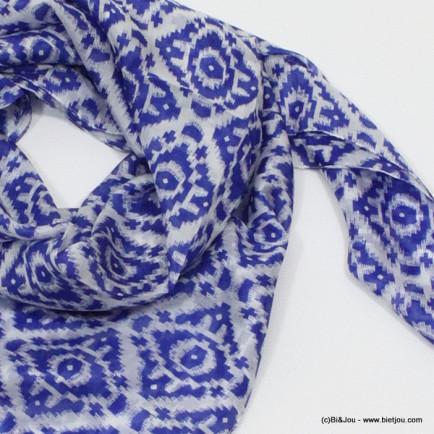 carré de soie 0715019 bleu foncé