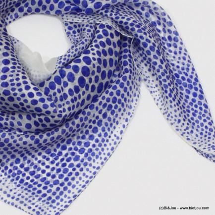 carré de soie 0715020 bleu
