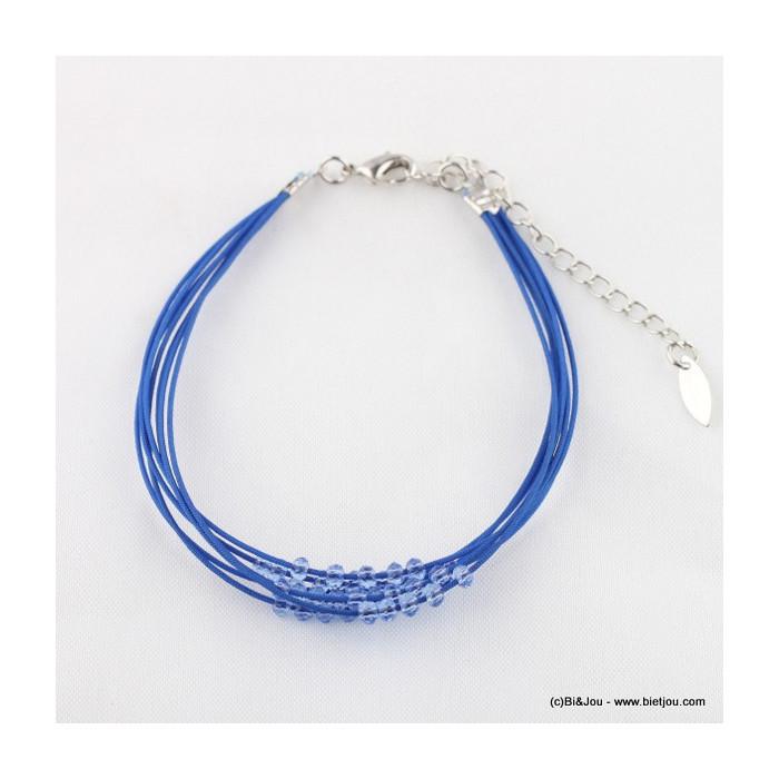 Bracelet multi rangs perles acrylique
