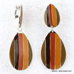 boucles d'oreille 0312538 marron