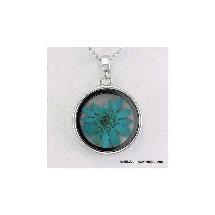 sautoir verre rond fleur 0115514