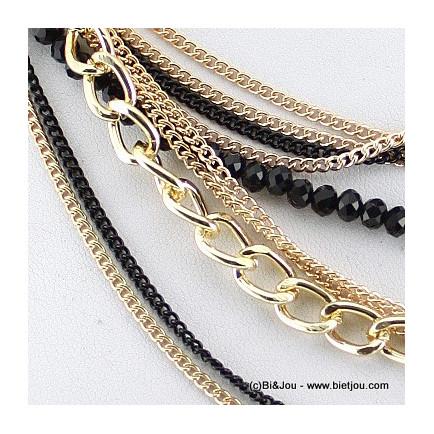 collier fines chaînes 0115508 doré