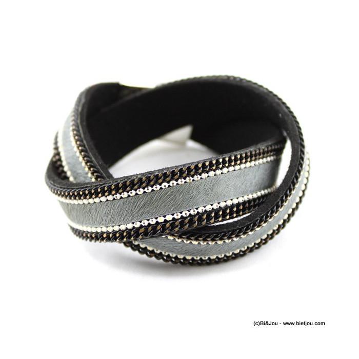 bracelet multi-tours simili-cuir 0215223