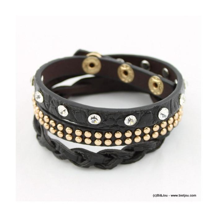 bracelet simili-cuir multi-tours 0215514