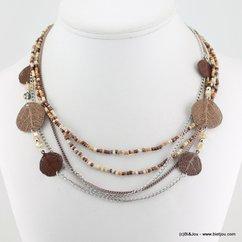 collier 0115529 marron