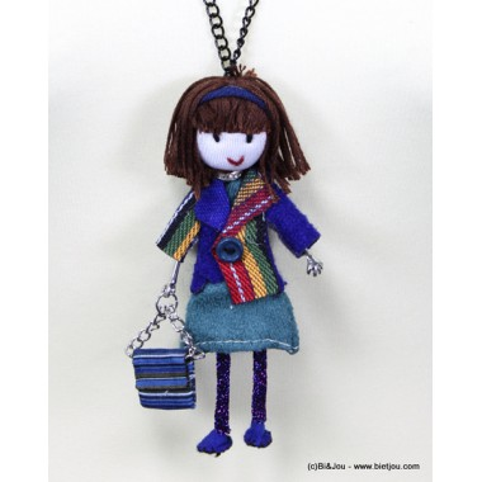 sautoir poupée chiffon 0115561