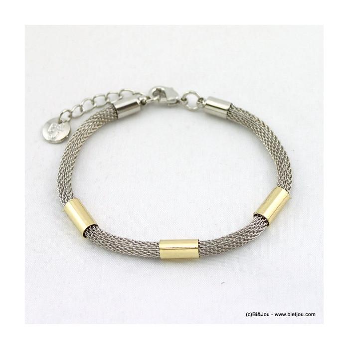 bracelet maille résille tube 0215568