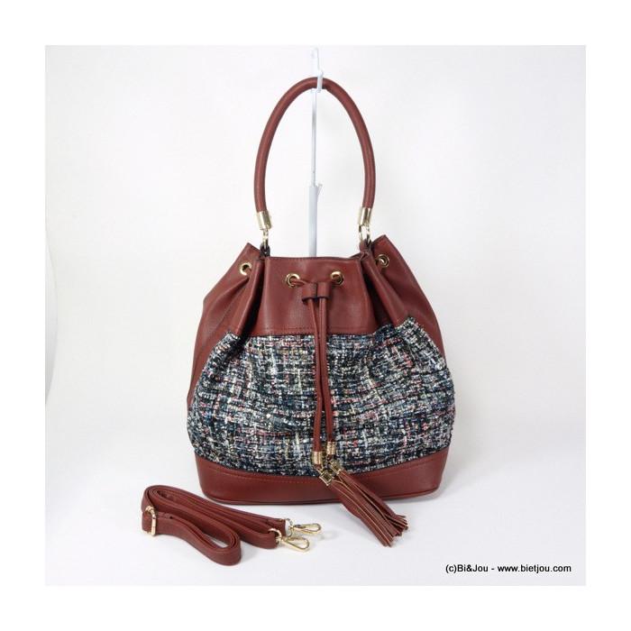 sac bourse tweed pompon Flora&Co 0915544
