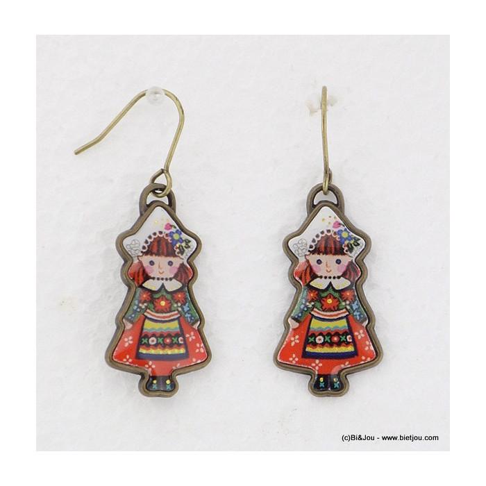 boucles d'oreille vintage poupée 0315569