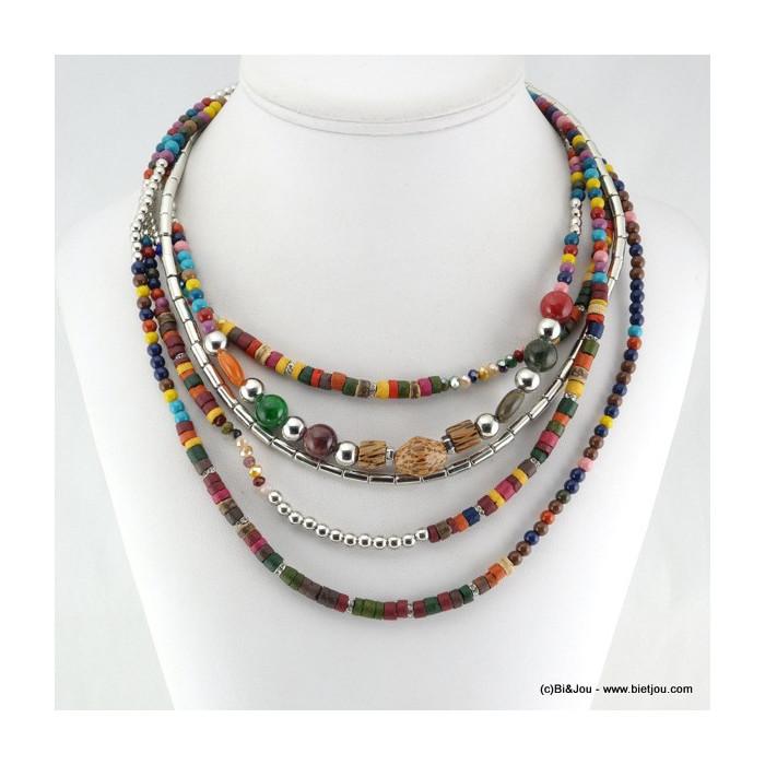 collier multi-rangs ethnique 0115619