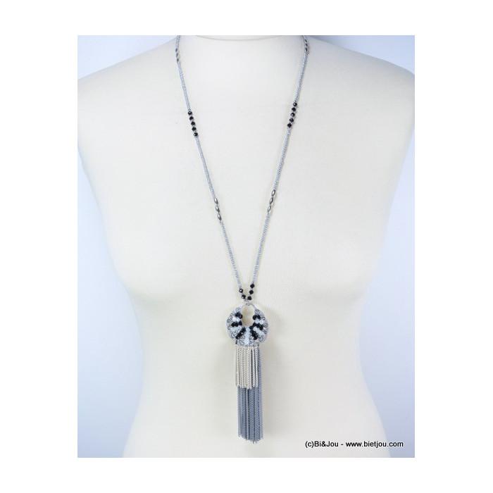 Sautoir gypset tassel avec perles cristal et rocaille