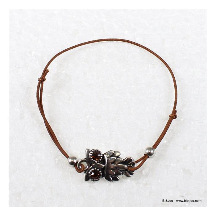 Bracelet hibou noeud coulissant