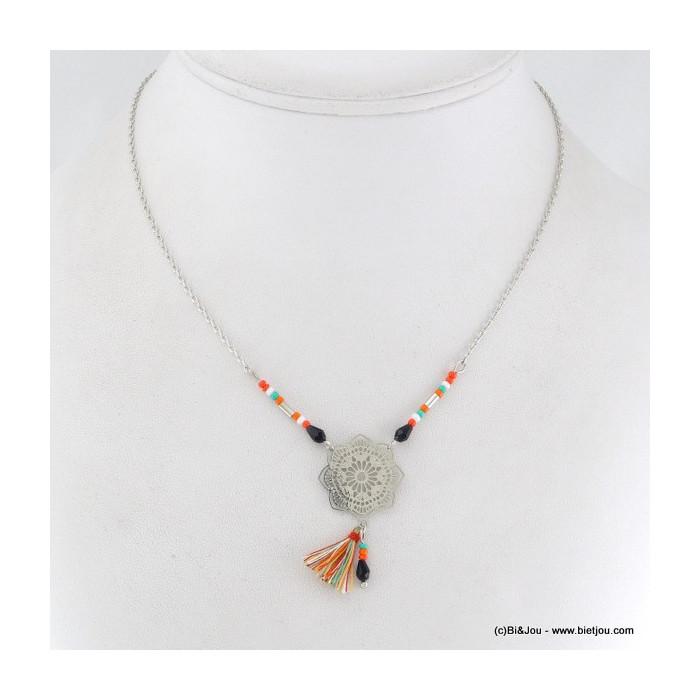 collier pompon rosace 0116074