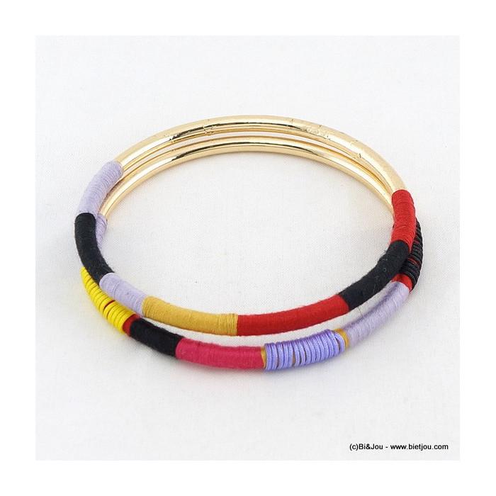 lot de 2 bracelets joncs 0216028