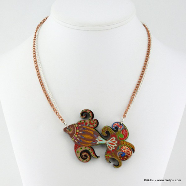 Collier poisson multicolore