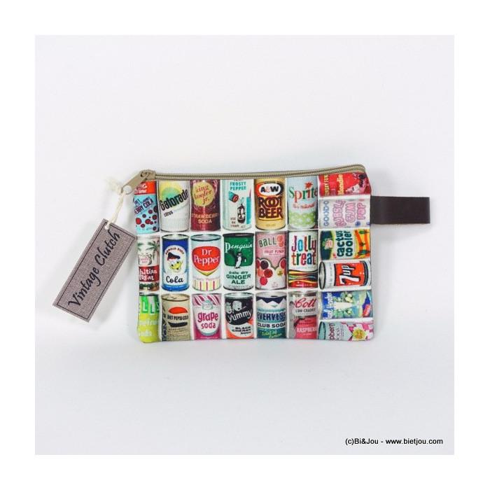 pochette vintage canettes soda 0916038