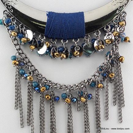 plastron antique 0115611 bleu
