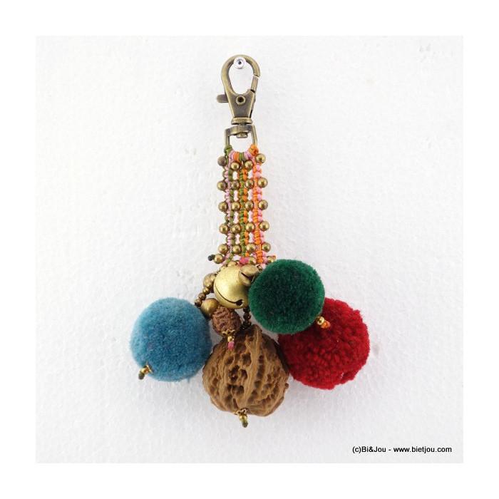 porte-clés bijou de sac pompon boule 0816016