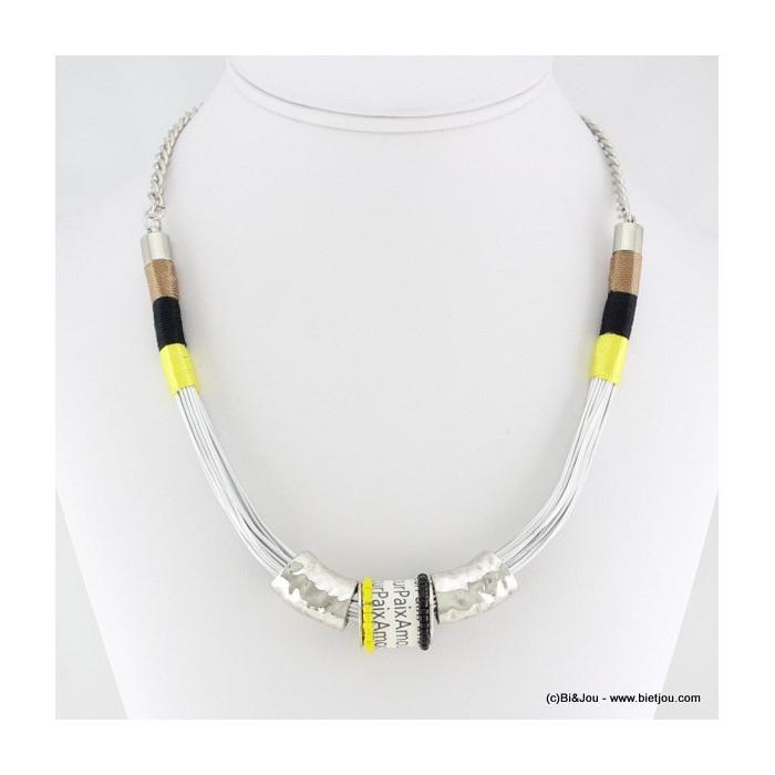 collier collier fil de fer fils enroulés 0116024