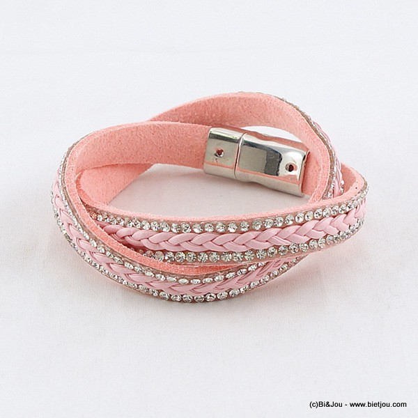 bracelet multi-tours aimanté simili-cuir 0216037