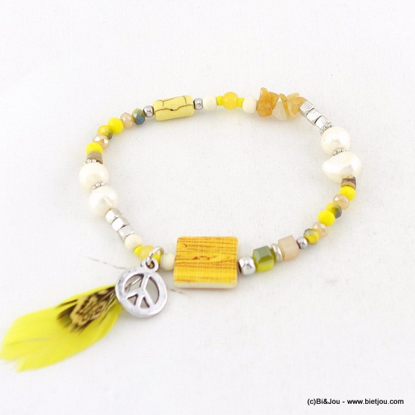 bracelet peace-and-love plume 0216050