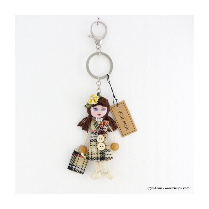 porte-clés bijou de sac poupée 0816008