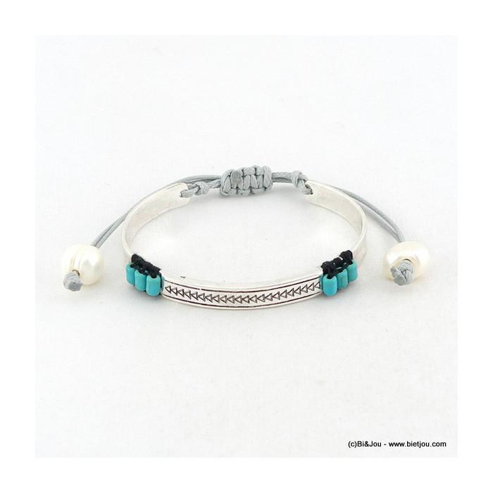 bracelet turquoise noeud macramé 0216056