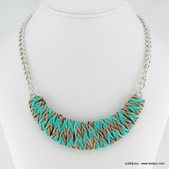 collier 0116145 bleu turquoise