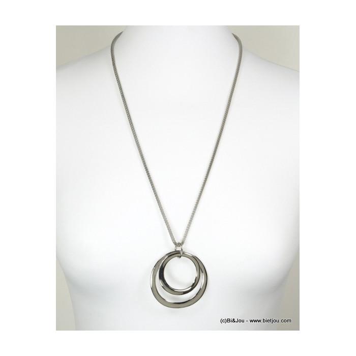 sautoir femme double anneaux 0116155