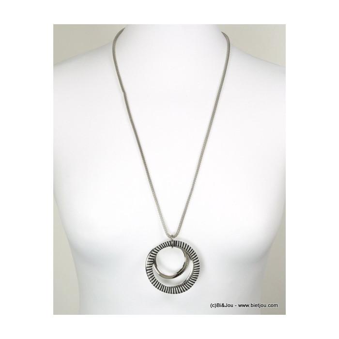 sautoir femme anneau fil enroulé 0116154