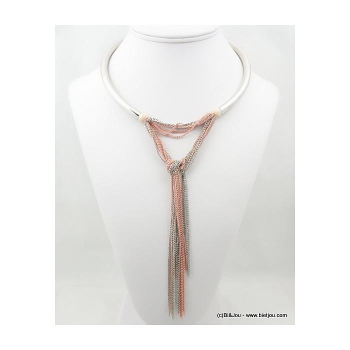 collier femme cerceau chaines fines 0116153