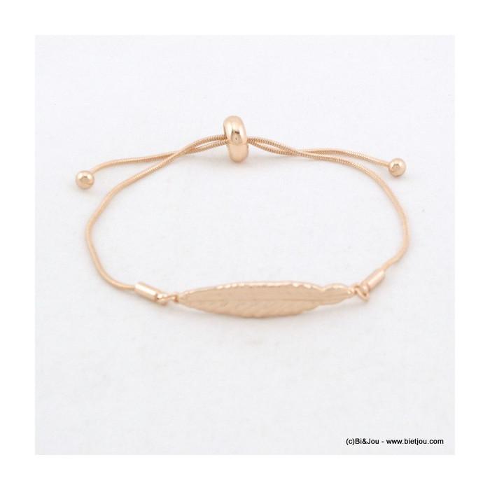 bracelet femme plume noeud coulissant 0216073