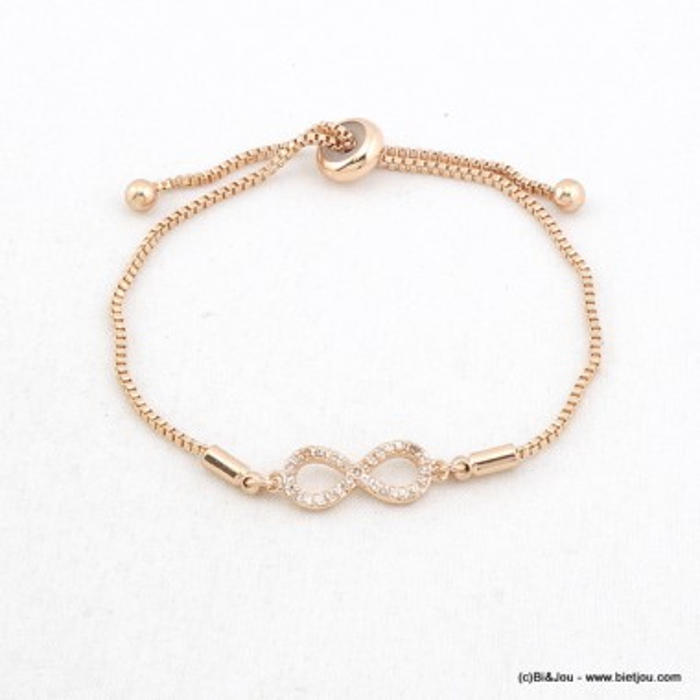bracelet femme infini noeud coulissant 0216076
