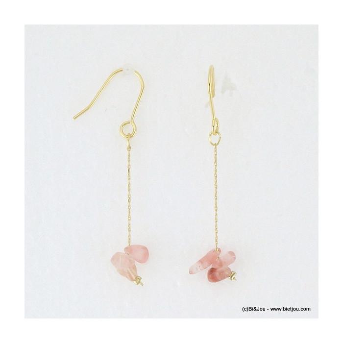 boucles d'oreille drop de pierres 0316061