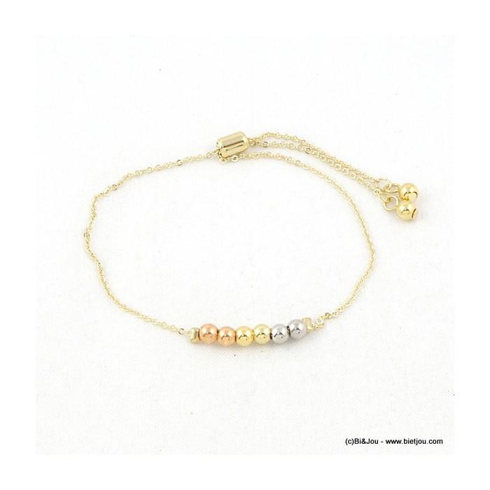bracelet noeud coulissant suite de billes 0216092