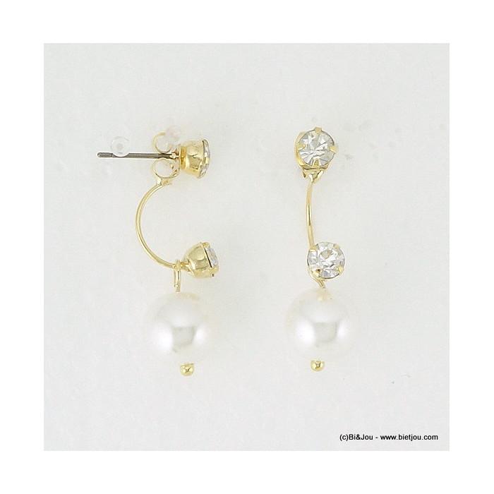 boucles d'oreille clou sous-lobe imit.perle 0316074