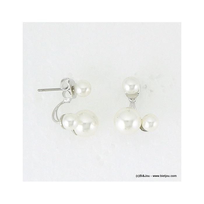 boucles d'oreille clou sous-lobe imit.perle 0316075