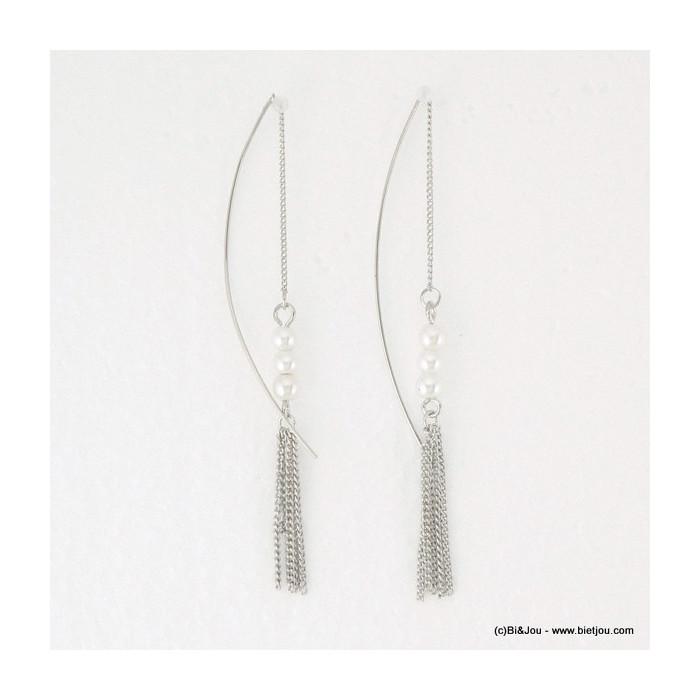 boucles d'oreille traversante imit.perle 0316076