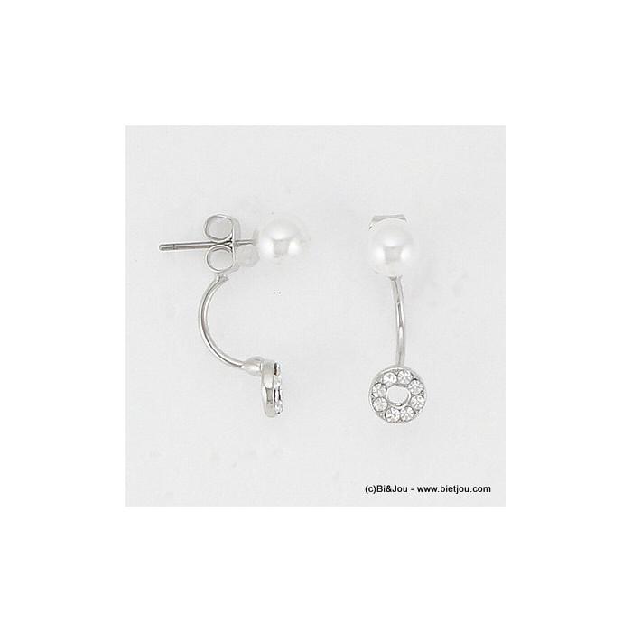 boucles d'oreille sous lobe imit.perle 0316083