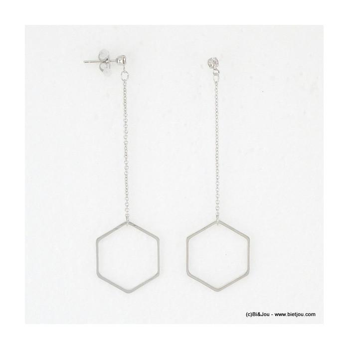 boucles d'oreille pendante héxagone 0316089
