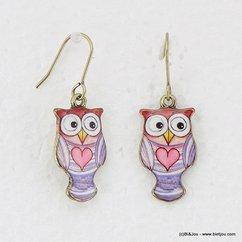 boucles d'oreille 0316110 violet