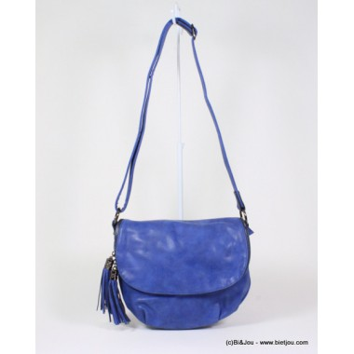 sac à bandoulière femme simili-cuir effet beton rabat tassel pompon Flora&Co 0916085