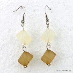 boucles d'oreille 0313051 naturel/beige